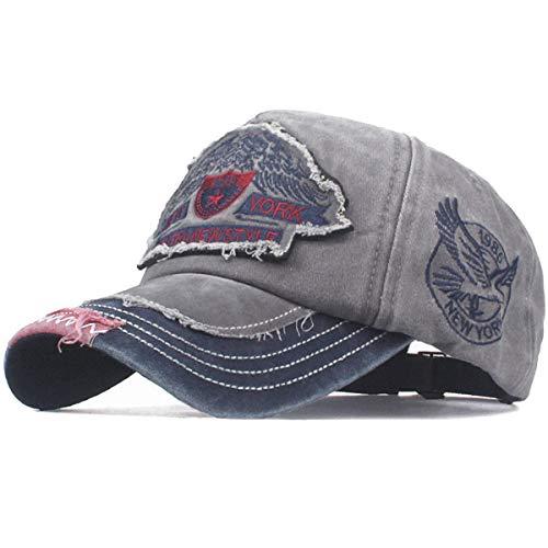 Baseballcap Original Eagle Vintage Style Used Washed Look Retro Kappe Cap (grau)