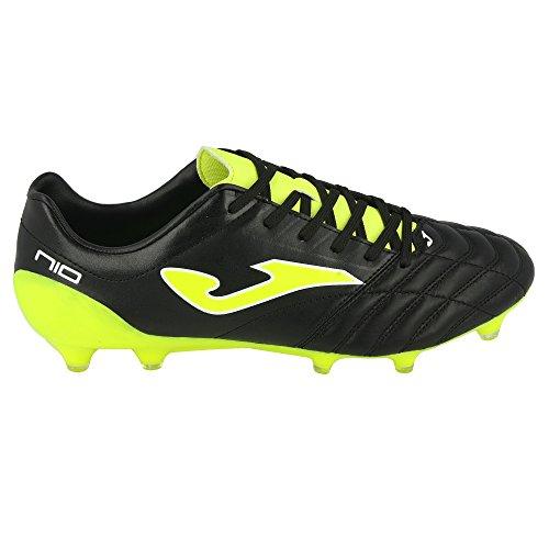 SPORTIME2 - Botas de fútbol de Cuero para Hombre Verde Negro Verde Size: 44.5 EU