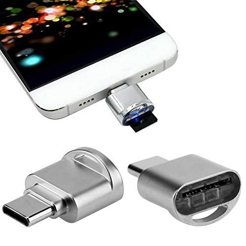 VVM-Tech Plata USB 3.1 Tipo C A Adaptador OTG Lector de Tarjetas Micro SD Rendimiento de Alta Velocidad con Orificio para Cuerda para Xiaomi Mi A2
