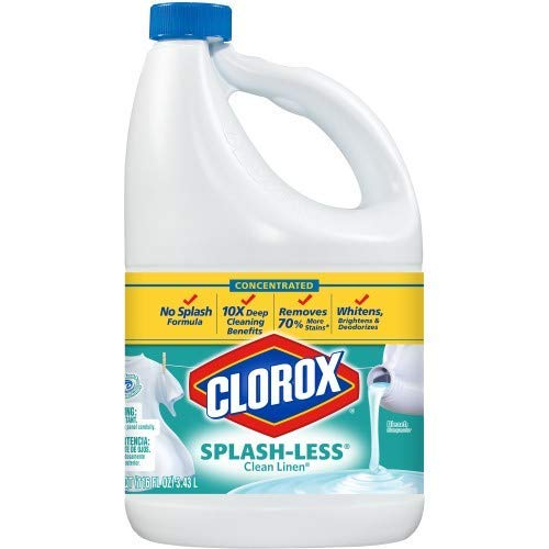 Clorox Splash-Less Bleach, Clean Linen Scent, 116 oz (Pack of 2)