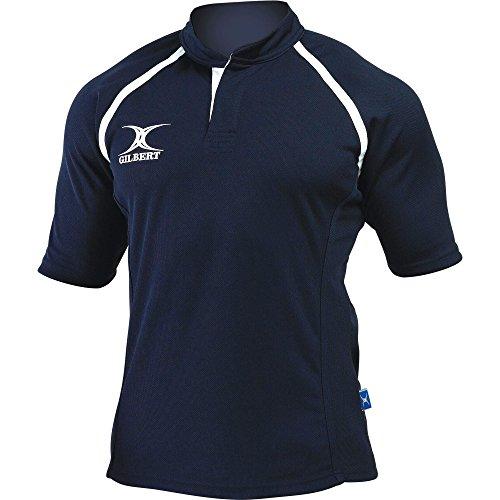 Gilbert Rugby Herren Xact Kurzarm Rugby Shirt (2XL) (Marineblau)