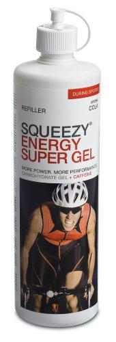 SQUEEZY  Sportlernahrung ENERGY SUPER GEL REFILLER, Cola+Koffein, Flasche mit 500 ml Gel zum Wiederauffüllen der 125 ml Flasche, mit Koffein