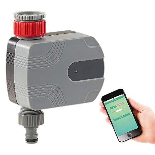 HYJSQ Bewässerungscomputer, Bewässerungssteuerung, Smart Bluetooth APP Zeitautomatik, Landwirtschaftliche Bewässerung Bewässerungsspray elektronische Zeitschaltuhr, Geeignet