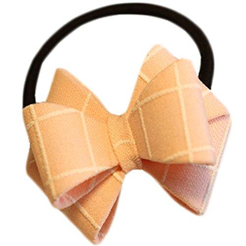 Hair Bands Mode Corde cheveux bowknot Accessoires cheveux(Pink Grid)
