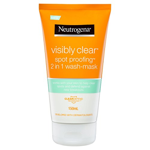 Neutrogena visibly clear spot-proofing 2-in-1-wash-mask, 150ml