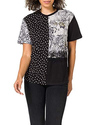 Desigual TS_Loris Camiseta, Negro, XL para Mujer
