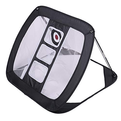 ShawFly Golf Chipping Net Indoor Outdoor Zusammenklappbares Golfzubehör Tragbares Square Golf Chipping Übungsnetz für Genauigkeit und Schwungübungen (schwarz)