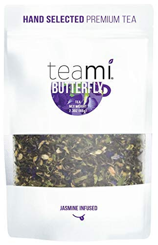 Teami Butterfly Pea Flower Tea - Premium Hand-Selected Loose Leaf Tea Blend - Antioxidant Rich, Caffeine-Free (30+ Servings Per Bag)