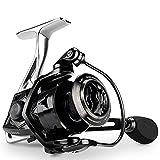 Carretes de Pesca ZWRY Carrete de Pesca Giratorio 18KG MAX Drag 7 + 1 Rodamientos de Bolas Carrete de Aluminio Arrastre Bobina de Pesca de Agua Salada Serie 4000 Negro