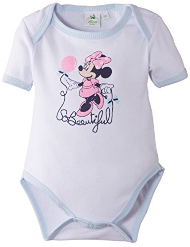 Disney Minnie Mouse Body, Bleu (Optic White/Pastel Blue), FR: 24 Mois (Taille Fabricant: 23 Months) Bébé Fille