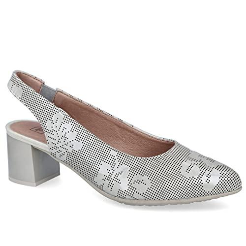 pitillos Zapato de Vestir en Piel Charol Plateado