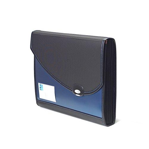 Rapesco 0679 Classificatore a Soffietto, A4, Protocollo con Manico, 7 Scompartimenti, Blu