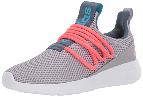 adidas unisex-child Lite Racer Adapt 3.0,Glory Grey/Pink/cyan,4 M US
