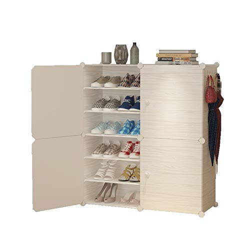 MICEROSHE Zapatero Conveniente Torre de Estante Modular del gabinete para Zapatos y Bastidor de Botas para Ahorrar Espacio Regalos para el Hogar (Color : Blanco, Size : 84x32x94cm)