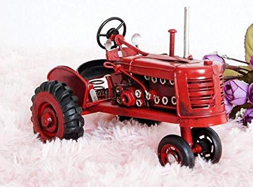 TRES Tractor de hierro clásico antiguo retro apenado vintage Antiguo