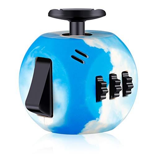 ruggito Fidget Spielzeug lindert Stress Angst Fidget Toy Fun Cube Angst Aufmerksamkeit Spielzeug für Kinder und Erwachsene (Himmelblau)