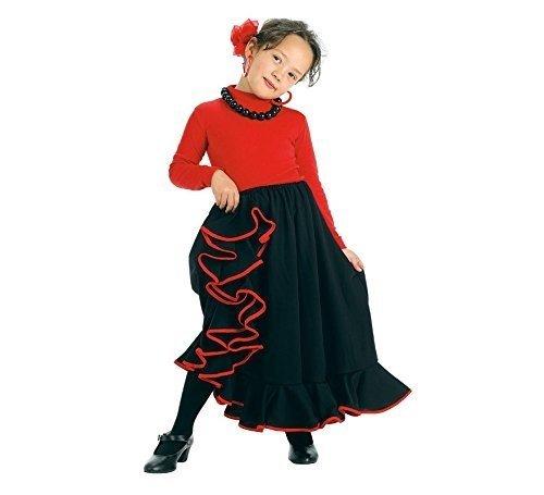 Creaciones Llopis- Falda Rociera Infantil Negra T-1 (3-5 Años),, 3-5años (4511-1)