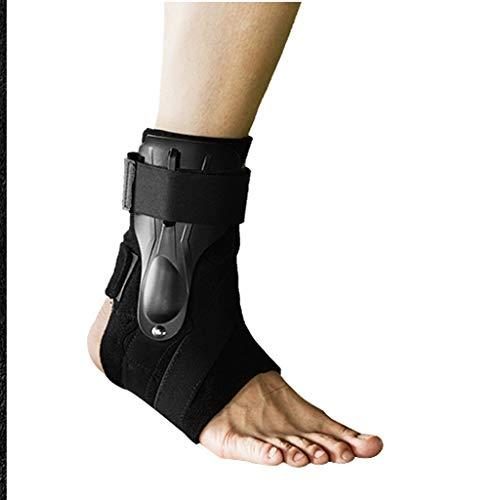 WDX- Ankle Sports enkelletsel vaste voet enkelgewricht beschermhuls anti-kraak voet mannelijke linker en rechter voet universele Bescherm enkels (Color : Black, Size : 22.5-24cm)