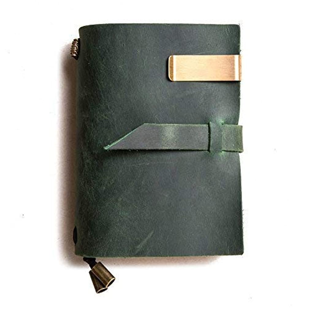移植厳しい電話するIPBEN トラベラーズノート パスポート  日記帳 本革  ( グリーン ,  13 × 10 cm)