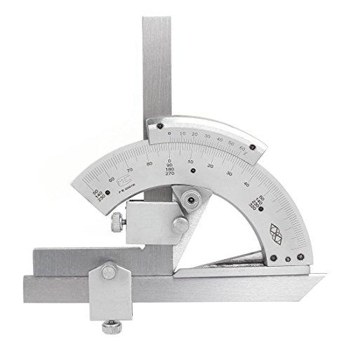 vzer 0–320° Universal Edelstahl Vernier Winkelmesser, Präzision Winkel Messen Finder Lineal Werkzeug