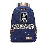 Bhjfeijkkl Assassination Classroom Mochila for niña Mochila de Lona de impresión Bolsa de Viaje Mochilas for niños Ocasionales para Mujeres y Hombres (Color : Blue01, Size : 30 x 15 x 42cm)