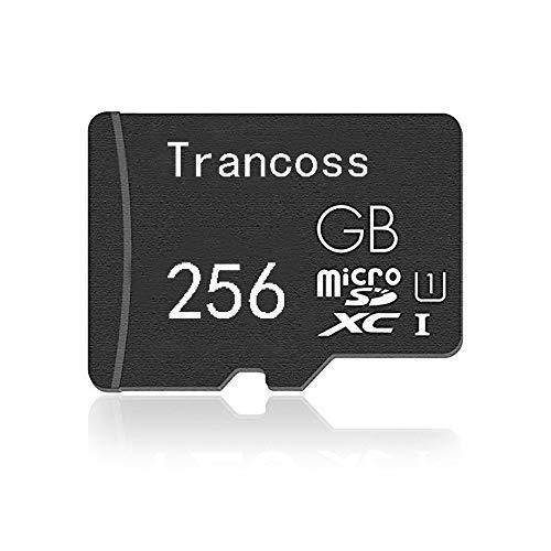 trancoss Micro SD Karte 256GB Speicherkarte Highspeed Micro SD Card Mini Memory Card für Digitalkameras,Dashcam,Computer, Tablet, alltägliche Aufnahmen & Videos