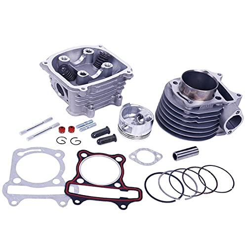 ZhuFengshop GY6 160cc High Performance 58.5mm Scooter Motor Rebuild Kit Big Bore Cilindro Kit Cilindro Cabeza Assy Scooter ATV