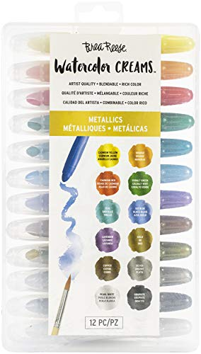 Brea Reese Watercolor Creams - Metallic - Versatile Medium Facilitates Many Artistic Techniques