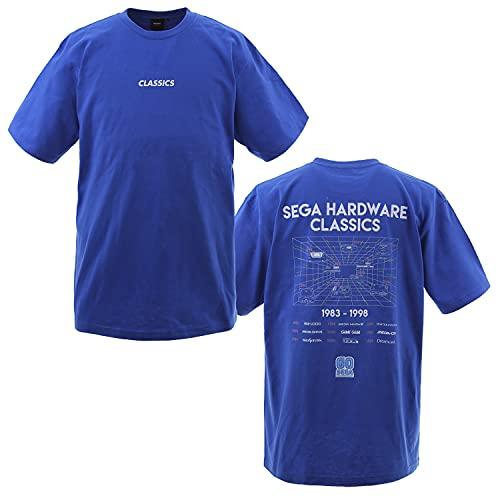 セガ設立60周年 Tシャツ(ハードヒストリー) ブルー - S 【オフィシャルライセンス商品】 グラフト ゲーミングライフ GGL019-BLU-S