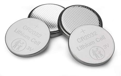 VERBATIM Premium batterie a bottone al litio CR2032 confezione da 4 3V 220mAh I batterie a bottone al litio per orologi o chiavi dell'auto, telecomando, videocamera & Co I batterie a bottone al litio