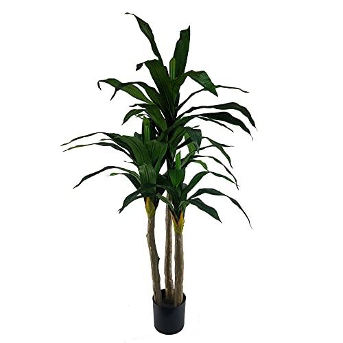 YUKA - Muebletmoi - Planta tropical grande artificial con hojas largas (altura +/-170 cm)