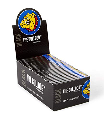 The Bulldog Amsterdam Rolling Papers | Regular Size Zwart Papier | Full Box