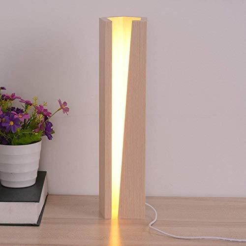 Modernes Design LED justierbare Tischlampe Dimmer Nachtnachtknopf Holz-Schreibtisch-Lampe Touch-Kind-Mädchen Wohnzimmer, stufenlose Dimmung,24CM