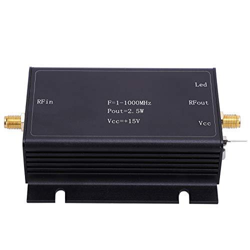 Amplificador de potencia RF, Amplificador de potencia de banda ancha RF, 15V 1‑1000MHz, Componente de placa de circuito impreso de aleación de aluminio AMP, Amplificador LNA