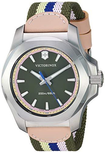 Victorinox Women's I.N.O.X. Stainless Steel Swiss-Quartz Nylon Strap, Multi, 18 Casual Watch (Model: 241809)