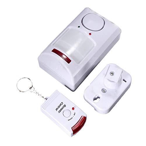 YILONG De Largo Alcance + 2 Controles remotos de Alarma del Sensor de Movimiento PIR inalámbrico Shed Inicio Garaje Detector infrarrojo Caravana