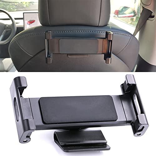 Modelo 3 accesorios para Tesla modelo 3/Y/X/S, asiento trasero de coche, soporte para teléfono móvil, piezas (negro)
