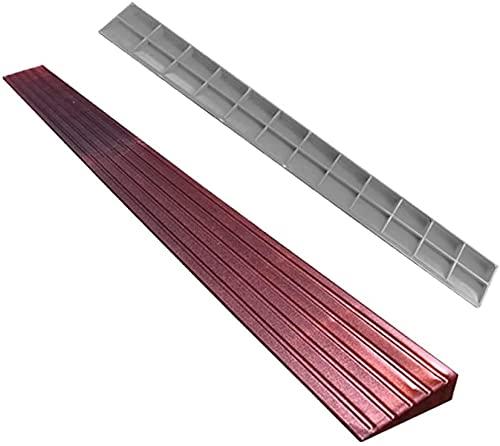 Rampa Rampa de la rampa de bordillo Rampa de triángulo portátil de carga a 2000kg de plástico Rampa de umbral de rampa de interior Pad Pad Mat (Color : Red)