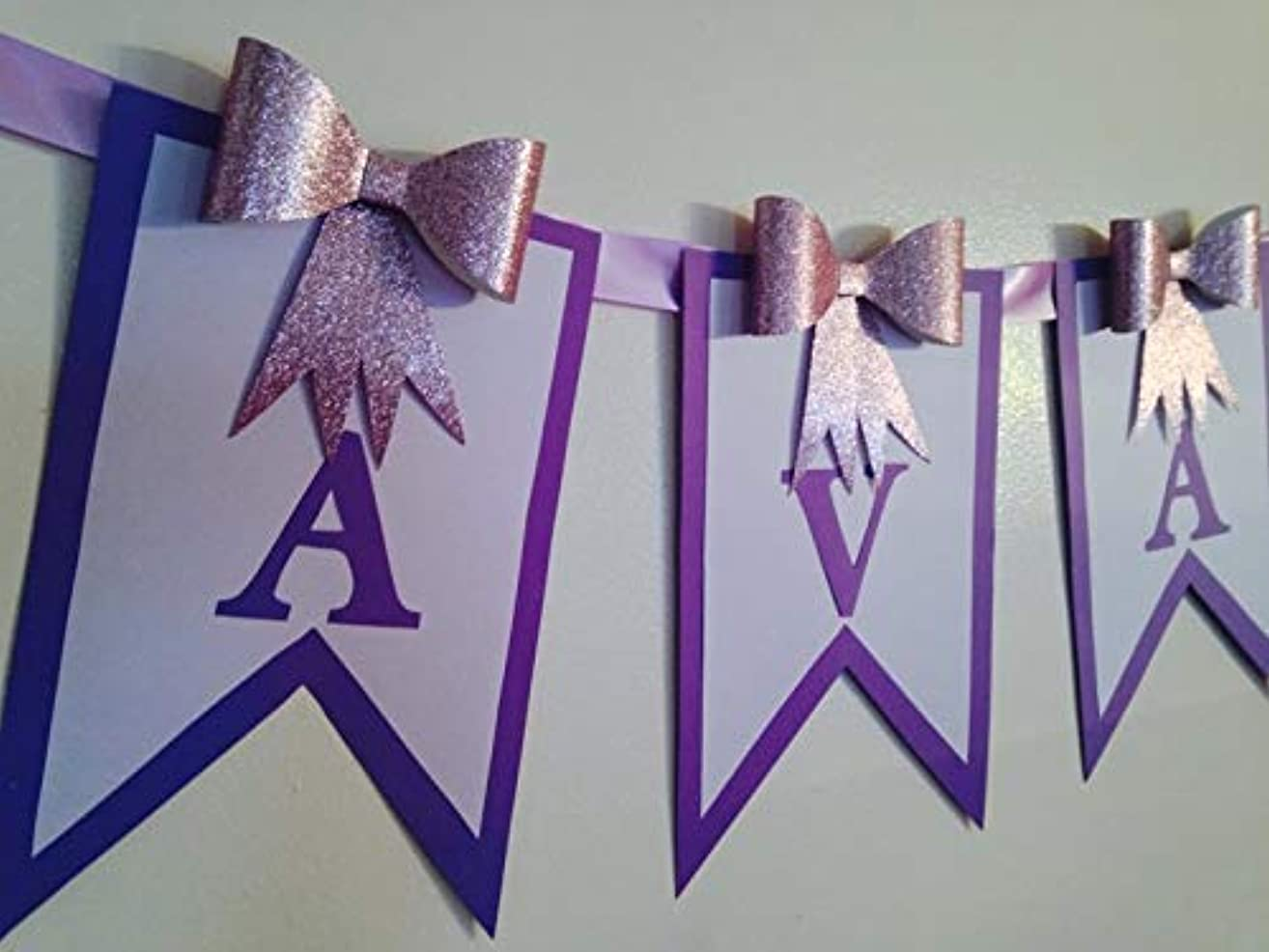 Name Banner, Happy Birthday Banner, High chair Banner, Baby Shower Banner, It's A Girl Banner, Bow Banner, Princess Banner