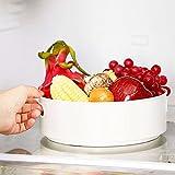 Porta Piatti Storage Cucina Cucina Organizzatore Ruotabile Spice Rack Rack Spice Turntable Armadio Organizzatore Multifunzionale Per Storage Cucina Bianco
