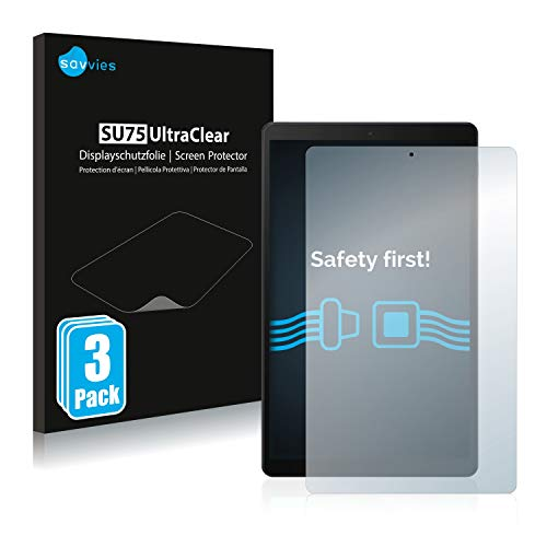 Savvies Screen Protector compatible with Samsung Galaxy Tab A 10.1 WiFi 2019 Screen Protector Clear Protection Film (3 Pack)