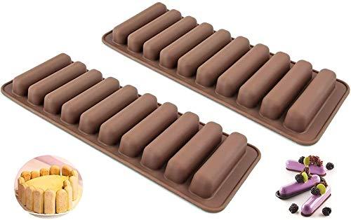 Lange strip schimmel vinger vorm biscuit mal 2 stks-10 holte chocolade rechthoekige grain bar schimmel food grade Prachtig