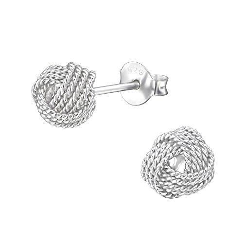 Laimons Damen-Ohrstecker Damenschmuck Knoten glanz Sterling Silber 925