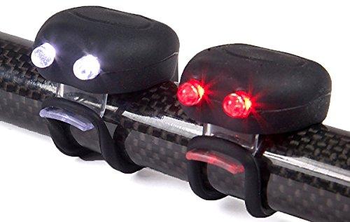 SD Sport™ Mega Mini LED Bicyclette Casque Sets d'éclairage Avant et arrière