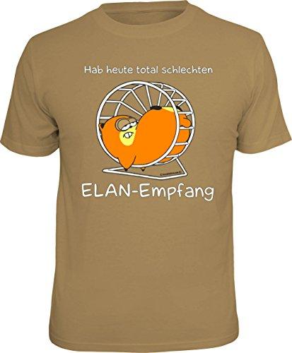 RAHMENLOS Original T-Shirt: Ich Habe Heute keinen Elan Empfang! Größe XL, Nr.1768