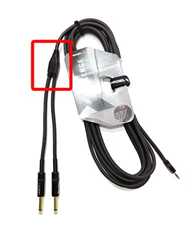 Proel CHLP170LU3 - Cavo audio professionale 'Y' jack 3,5 Stereo a 2 jack 6,3 Mono - 3mt., Nero (3mt)