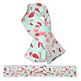 Sciarpa invernale in flanella con collo in peluche a doppio volto, calda sciarpa a croce e collo avvolgente, per donne, uomini e bambini, stampa animale, rosa e acqua