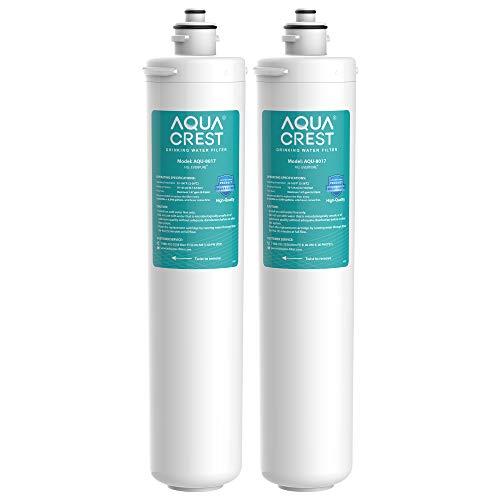 AQUA CREST H-104 Under Sink Water Filter, Replacement Cartridge for Everpure H-104, EF-3000, PBS-400, OW200L, 6TO-BW, MR-100, MR-225, EV9262-71, EV9612-11, EF9857-00, EF9857-50, EV9270-86, Pakc of 2