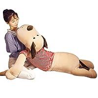 ぬいぐるみ 抱きまくら おもちゃ 動物 洋服着る犬ちゃん わんちゃん ブラウン 白 可愛い ふわふわ もちもち やわらか クッション 癒し系 お祝い ギフト バレンタインデー ブラウンL