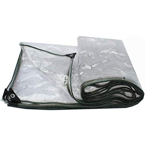 LYLSXY Lonas, Lona Carpa Espesado 99% Transparente Protector Solar Al Aire Libre a Prueba de Lluvia de Tela Resistente Al Desgarro Impermeable Fácil de Plegar Aislamiento Parasol Canopy 0.5Mm,1M X 4M